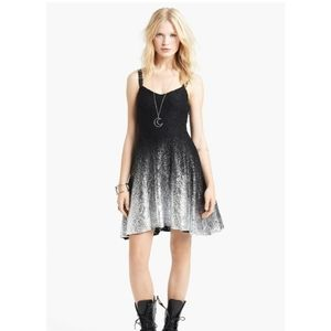 Free People ombre lace nye dress black silver med